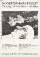 Affiche voor het Noordermarktfeest op zaterdag 16 juni 1984