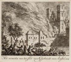 Het vernielen en verbranden van het slot van Gijsbrecht van Amstel in 1204