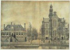 Keizersgracht-Westermarkt gezien naar de Westerkerk en de Westerhal
