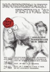 Affiche voor het Noordermarktfestival, van donderdag 27 mei tot en met zaterdag …