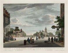 Gezicht na de Haarlemmer Poort te Amsterdam