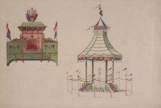 Decoraties ter gelegenheid van de 70ste verjaardag van koning Willem III. Versie…