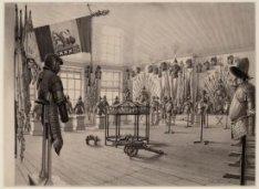 De wapenkamer van het Prinsenhof, het voormalige Stadhuis aan de Oudezijds Voorb…