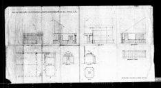 Ontwerptekeningen met aanzichten, plattegronden en doorsneden; nr. 19