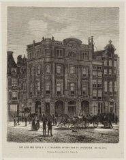 Het huis der firma P.G.C. Hajenius, op de Dam te Amsterdam