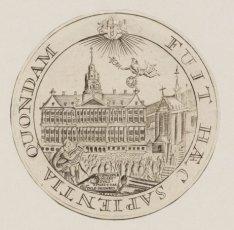Afbeelding van gedenkpenning ter gelegenheid van de ingebruikname van het Stadhu…