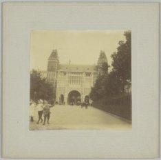 De achterzijde van het Rijksmuseum, Stadhouderskade 42, gezien vanuit de Museums…