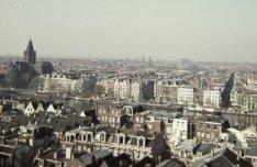 Panorama vanaf het Centraal Belasting Gebouw aan de Wibautstraat, gezien in zuid…