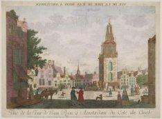 Vue de la Tour de Jean Roon à Amsterdam du Cote du Cingle