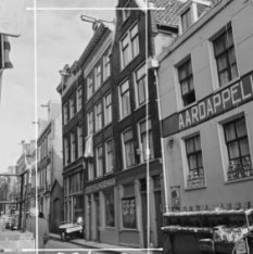 Hazenstraat 41 - 53 met aansluitend rechts een deel van de zijgevel van Elandsgr…