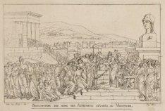 Proclamation des noms des Atheniens dévoués au Minotaure