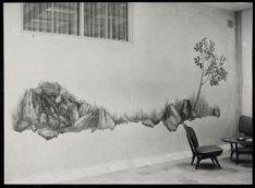 Een fresco van Albert Muys in het gebouw van de Koninklijke Nederlandse Maatscha…