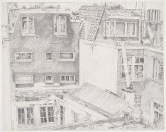 Uitzicht vanaf de zolder van de Elandsgracht 3