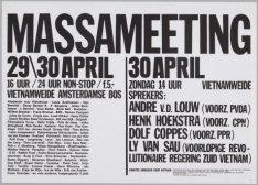 Massameeting 29/30 april Vietnamweide Amsterdamse Bos