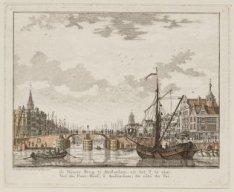 De Nieuwe Brug te Amsterdam, uit het Y te zien