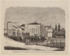 De Amsterdamsche Schouwburg van den kant van het Leidsche Bosch gezien