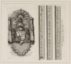 Wapen en grafschrift van Willem Eggert in de Nieuwe Kerk
