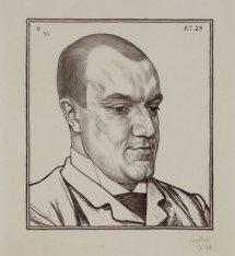 Portret van letterkundige Karel Joan Lodewijk Alberdingk Thijm (1864-1952). Pseu…