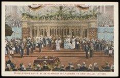Inhuldiging van H.M. de Koningin Wilhelmina in de Nieuwe Kerk, Dam 12. Naar een …