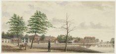 Gezicht langs de Singelgracht t.h.v. de latere Da Costastraat in noordelijke ric…