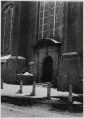 Detail van de gevel van de Westerkerk aan de Westermarkt
