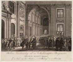Bekende onderhandeling van den Amsterdamschen Burgemeester Henrik Hooft Danielsz