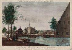 Gezicht op de Leydsche poort - Vue de la Porte de Leyden à Amsterdam