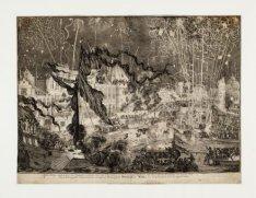 Vuurwerk in de Amstel bij de kroning van Willem III en Maria tot koning en konin…