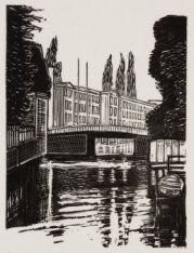 Nieuwe Prinsengracht t.h.v. nr. 100 gezien vanaf woonboot van de kunstenares (t.…