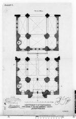 Plattegrond van de Posthoornkerk, Haarlemmerstraat 124