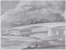 De Utrechtsebrug (brug 439) over de Amstel. Reproductie naar een aquarel