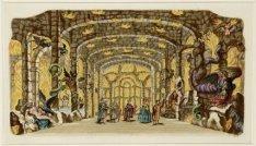 Interieur van de Schouwburg aan de Keizersgracht 384  met het decor van De Hel. …
