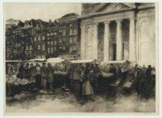 Waterlooplein 45-59 tijdens de markt met v.l.n.r. (na 1983 nr. 177-207)