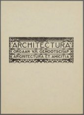 Hoofd voor het weekblad Architectura