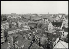 Panorama vanaf de toren van de Zuiderkerk aan de Zandstraat, in zuidelijke richt…