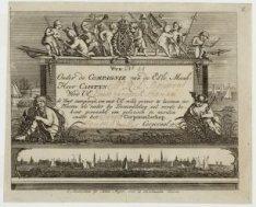 Burgerwachtbriefje met de oproep voor Ernst Frederik Hanau waarin hem 'De wacht …