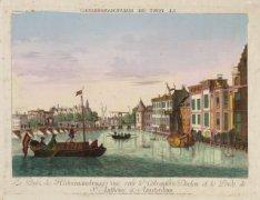 Le Pont (de Halvemansbrugg) vuë vers le Colveniers Doelen et le Poids de St. Ant…