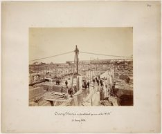 Oranjesluizen in aanbouw gezien uit het W.Z.W. 20 juni 1870