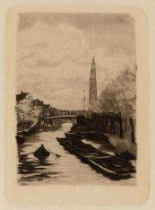 Prinsengracht gezien in noordelijke richting naar de brug voor de Reestraat (de …