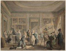 Interieur van de kunstgalerij van Josephus Augustinus Brentano, Herengracht 544
