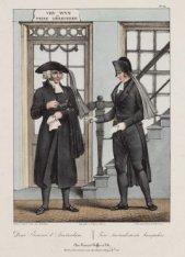 Deux Pleureurs d'Amsterdam. Twee Amsterdamsche Aansprekers