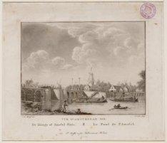 Vue d'Amsterdam No. 8. De Hooge of Amstel Sluis. Le Pont l'Amstel
