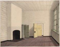 Het interieur van een cel in het Tucht- of Rasphuis, Heiligeweg 19