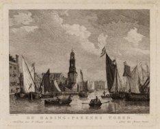 Het IJ, later Open Havenfront met Haringspakkerstoren aan de Haringpakkerij gezi…