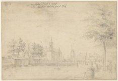 De Lijdse Poort te amst van de Kant der Spiegel gragt 1764