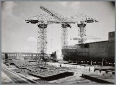 Bouwstadium van het vrachtschip ms. Bougainville