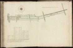 Kaart (rechtsboven genummerd) 68 van kaartboek C van het Burgerweeshuis met een …