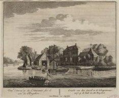 Een scheepswerf aan de  Omval op de hoek van den Ringsloot gezien vanaf de Amste…