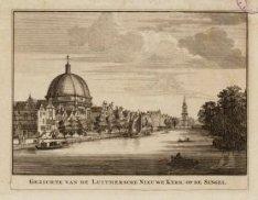 Gezichte van de Luithersche Nieuwe Kerk op de Singel