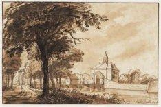 De eerste Muiderpoort, die in 1769 instortte